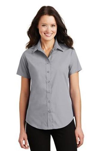 Ladies Short Sleeve Value Poplin Shirt