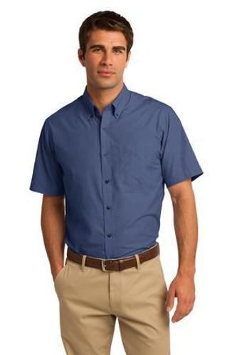Short Sleeve Crosshatch Easy Care Shirt