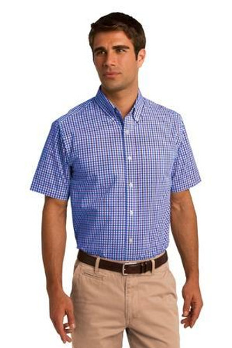 Short Sleeve Gingham Easy Care Shirt