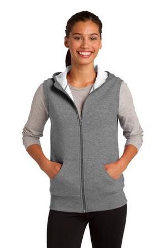 Ladies Hooded Fleece Vest