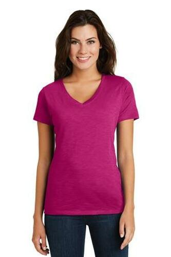 Ladies Super Slub V-Neck Tee