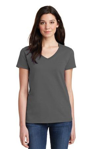 Ladies Heavy Cotton 100% Cotton V-Neck T-Shirt