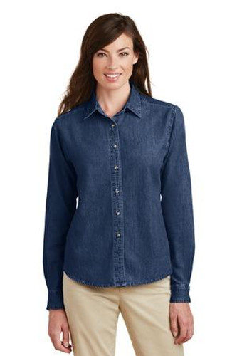 Ladies Long Sleeve Value Denim Shirt  LSP10