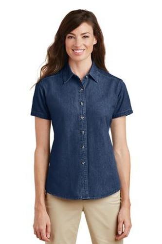 Ladies Short Sleeve Value Denim Shirt  LSP11
