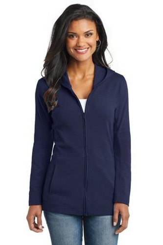 Ladies Modern Stretch Cotton Full-Zip Jacket