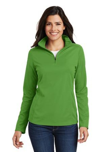 Ladies Pinpoint Mesh 1/2-Zip