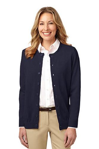 Ladies Value Jewel-Neck Cardigan Sweater