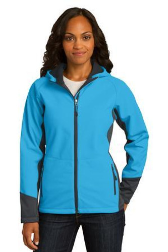 Ladies Vertical Hooded Soft Shell Jacket