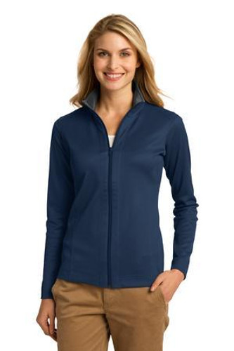 Ladies Vertical Texture Full-Zip Jacket