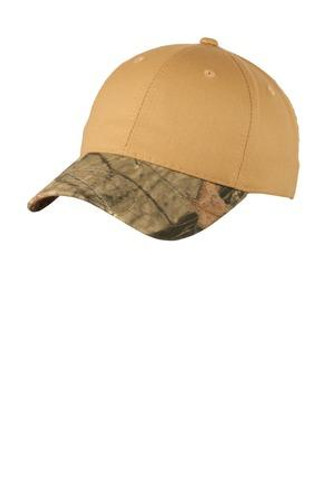 Twill Cap with Camouflage Brim