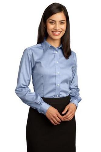 Ladies Non-Iron Pinpoint Oxford Shirt