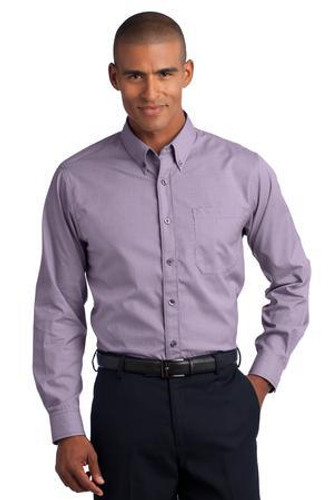 Mini-Check Non-Iron Button-Down Shirt