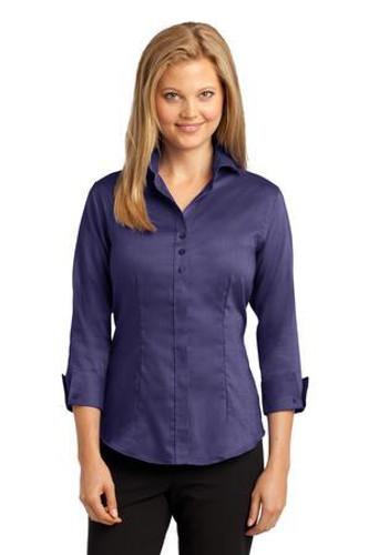 Ladies 3/4-Sleeve Nailhead Non-Iron Shirt