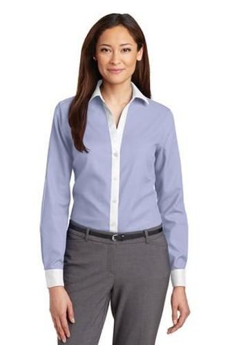 Ladies Non-Iron Diamond Dobby Shirt