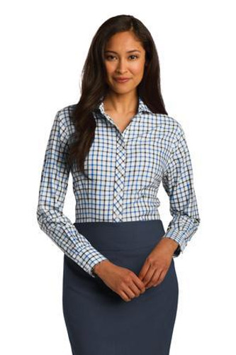 Ladies Tricolor Check Non-Iron Shirt