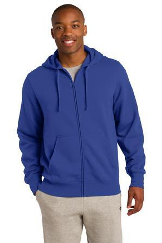 Full-Zip Three-Panel Hooded Sweatshirt