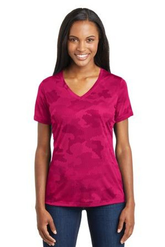 Ladies CamoHex V-Neck Tee
