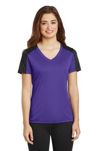 Ladies  Competitor Sleeve-Blocked V-Neck Tee