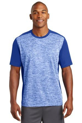 Electric Heather Colorblock Tee