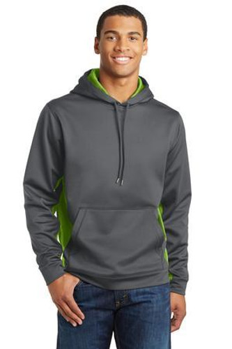 Sport-Wick CamoHex Fleece Colorblock Hooded Pullover