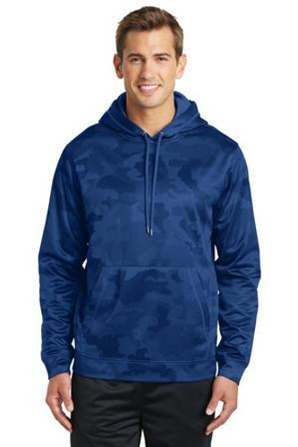 Sport-Wick CamoHex Fleece Hooded Pullover