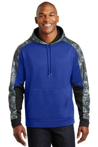 Sport-Wick Mineral Freeze Fleece Colorblock Hooded Pullover