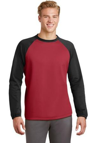 Sport-Wick Raglan Colorblock Fleece Crewneck