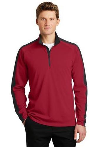 Sport-Wick Textured Colorblock 1/4-Zip Pullover