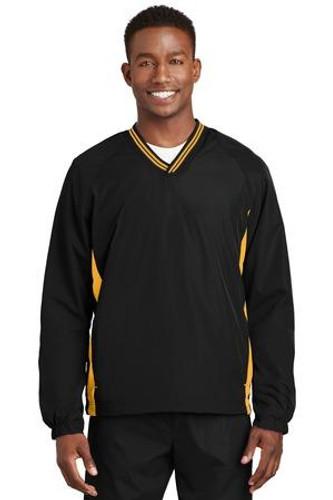 Tipped V-Neck Raglan Wind Shirt
