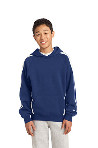 Youth Sleeve Stripe Pullover Hooded Sweatshirt