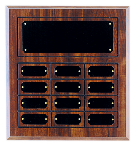 Cherry Finish Grooved Perpetual Plaque