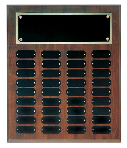 Cherry Finish Perpetual Plaque