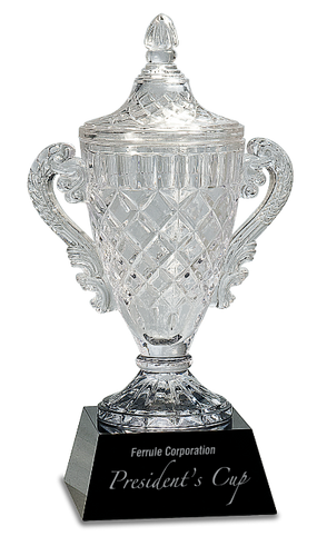 Crystal Cup on a Black Crystal Base