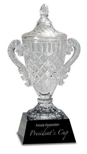 Crystal Cup on a Black Crystal Base