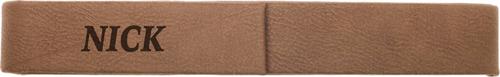 Dark Brown Leatherette Single Pen Case