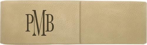 Light Brown Leatherette Double Pen Case