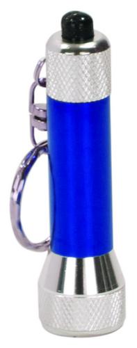 Blue 5-LED Flashlight with Keychain