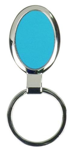 Large Blue Oval Keychain