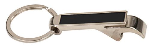Black Metal Bottle Opener Keychain