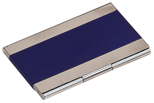 Blue Metal Business Card Holder