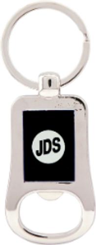 Silver & Black Bottle Opener Keychain