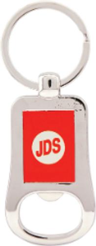 Silver & Red Bottle Opener Keychain