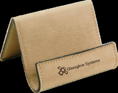 Light Brown Leatherette Holder/Easel
