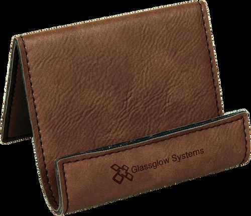 Dark Brown Leatherette Holder/Easel