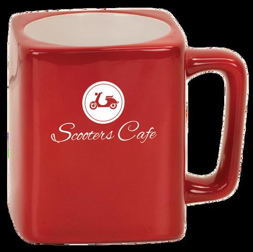 Red Square Ceramic Mug