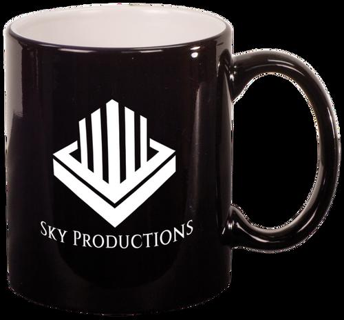Black Round Ceramic Mug