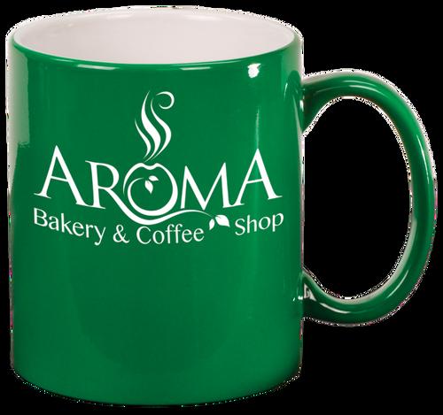 Green Round Ceramic Mug