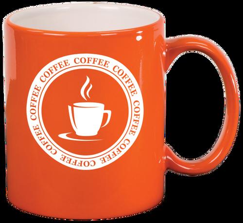 Orange Round Ceramic Mug