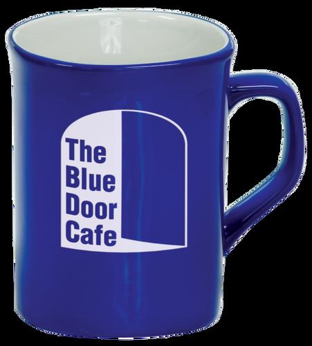 Blue Rounded Corner Ceramic Mug