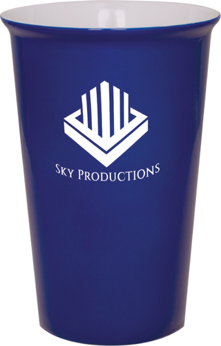 Blue Ceramic Latte Mug